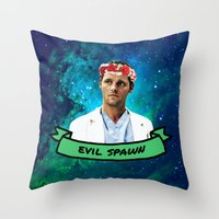 spawn Throw Pillows featuring Evil Spawn by drmedusagrey