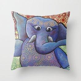 Dancing Elephant Throw Pillow