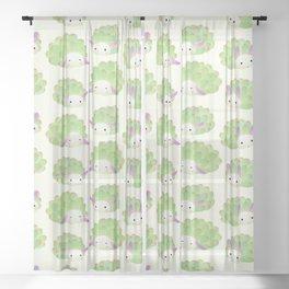 Sea sheep Sheer Curtain