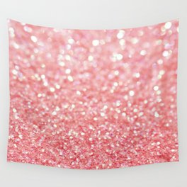 pink sparkle Wall Tapestry