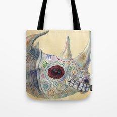 Day of the Dead Rhino Tote Bag