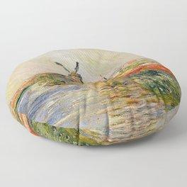 Claude Monet Tulip Field In Holland Floor Pillow