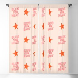 Southern Snark: Bless your heart (bright pink and orange) Blackout Curtain