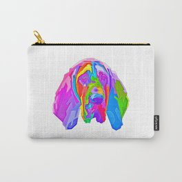 colorful bloodhound dog pop art style illustration Pet Dog Carry-All Pouch