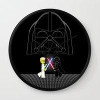 dark side Wall Clocks featuring Dark Side by AWOwens