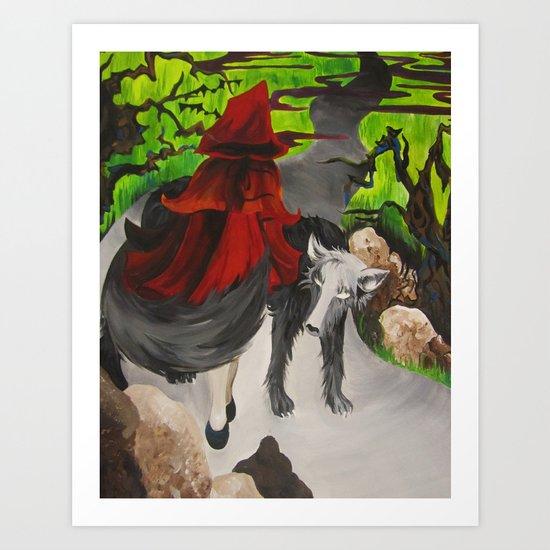 Riding Hood Art Print