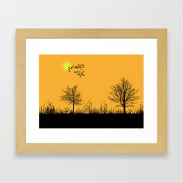 Orange panorama Framed Art Print