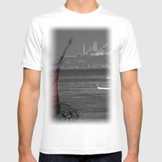 istanbul White SMALL Mens Fitted Tee