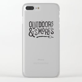 outdoors & S'mores Clear iPhone Case