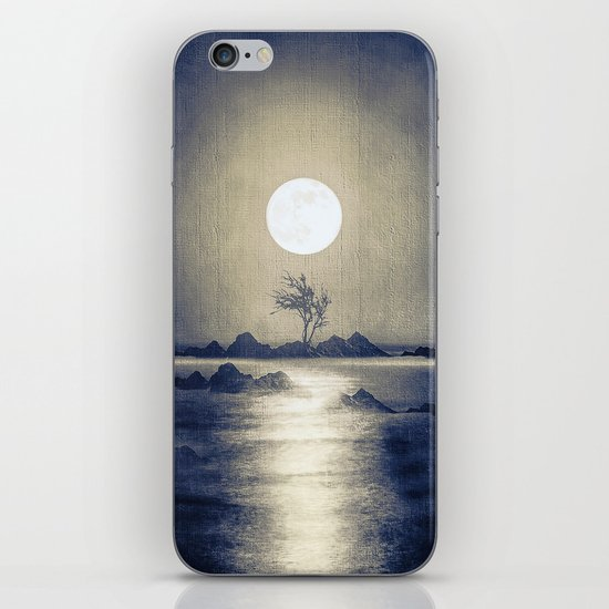When the moon speaks (part III) colour option iPhone & iPod Skin