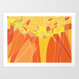 Abstract geometric orange pattern, vector illustration Art Print