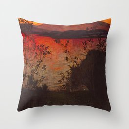 "Harald Sohlberg ""Evening Glow"" Throw Pillow"