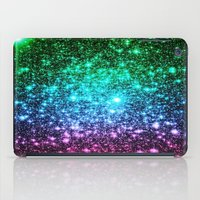 glitter iPad Cases featuring glitter Cool Tone Ombre by 2sweet4words Designs