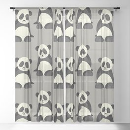 Whimsy Giant Panda Sheer Curtain