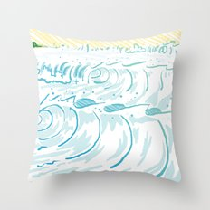 BIG WAVE Throw Pillow