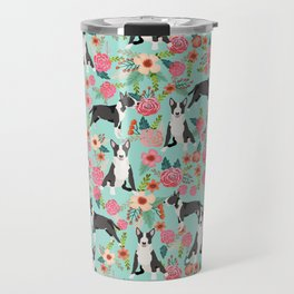 Bull Terrier floral dog breed gifts pet pattern by pet friendly bull terriers Travel Mug