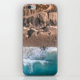 Aerial view of El Matador Beach in Malibu, CA iPhone Skin