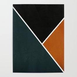 Noir Series - Forest & Orange Poster