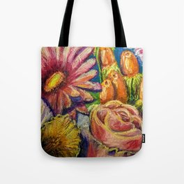 Floral Pastel Painting Tote Bag