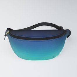 Blue Gray Black Ombre Fanny Pack