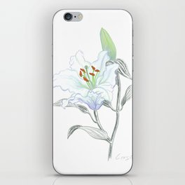 Lily 01 Botanical Flower * White Casablanca Lily iPhone Skin