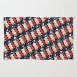Vintage Texas flag pattern Rug