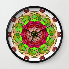 coloring mandala Wall Clock