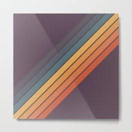 Classic 70s Style Retro Stripes - Dalana Metal Print