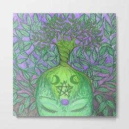 Earth Goddess Tree of Life Metal Print