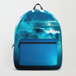 Gorgeous Fantasy Glowing Celestial Satellite Above Clouds Ultra High Definition Backpack
