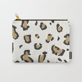 Wildcat Big Leopard Print in Bone White Carry-All Pouch