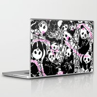 pandas Laptop & iPad Skins featuring Pandas by beach please