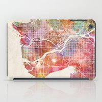 vancouver iPad Cases featuring Vancouver map by Map Map Maps