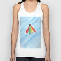 blackhawks Tank Tops featuring Feathers by Smash Art