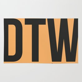 DTW Detroit  Luggage Tag 1 Rug