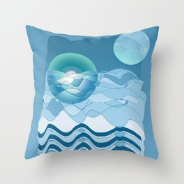 Sea Symphony in BLUE Throw Pillow
