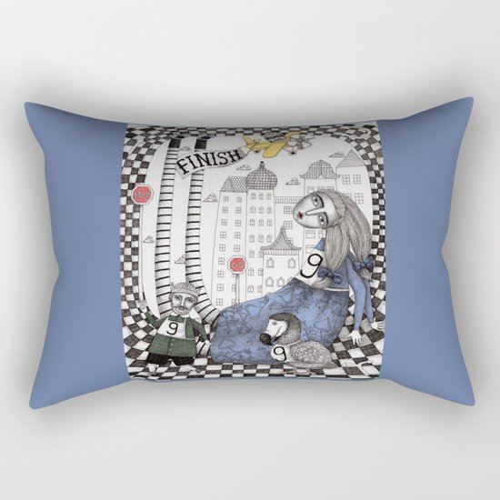 William the Conqueror and the 9 Feet Tall Caucus Race Rectangular Pillow