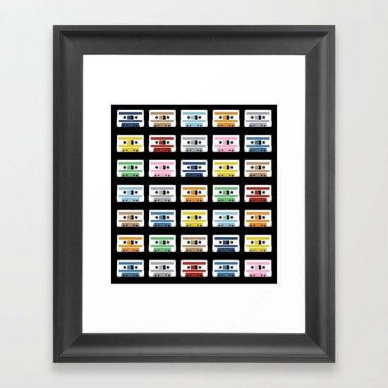 Rainbow Tapes Framed Art Print