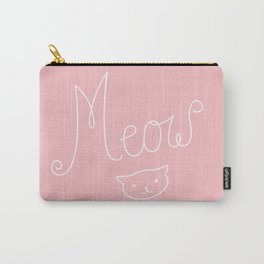Meow Cat Graphic Carry-All Pouch