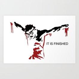 Jesus - It is Finished Art Print