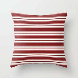 Classic Stripe in Red Throw Pillow