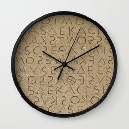 The oldest law code in Europe Wall Clock