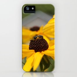 Bee on a Sunflower iPhone Case