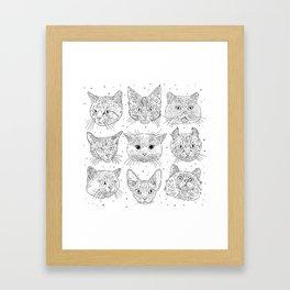 Cats, cats, cats Framed Art Print