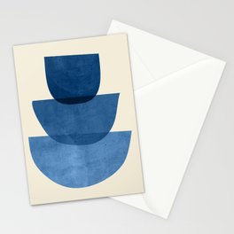 Abstract Shapes 37-Blue Stationery Cards