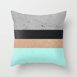 Abstract Turquoise Pattern Throw Pillow