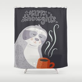 Happy Thoughts – Sloth Shower Curtain