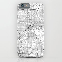 St Paul Map White iPhone Case