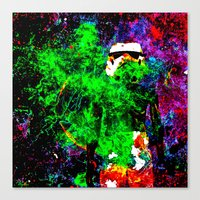 stormtrooper Canvas Prints featuring Stormtrooper   by Saundra Myles