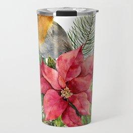 Merry Christmas. Watercolor Travel Mug